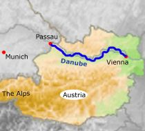 Cycle route from Passau to Vienna