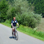 Dave cycling Donauleiten nature reserve