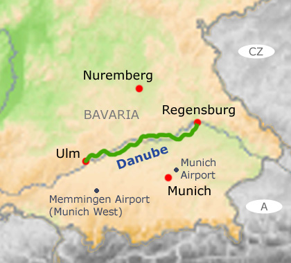 Guided Danube cycling holidays Ulm to Regensburg