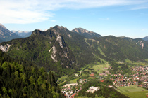 Looking across Oberammergau