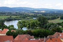 The Danube with the Bavarian Forest in the back