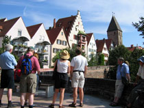 Guided cycling holidays: Visiting medieval houses in Ulm