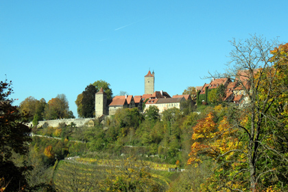 Rothenburg across the Tauber Valley