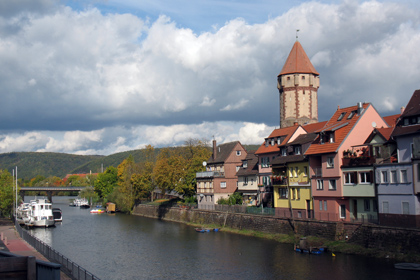The harbour of Wertheim