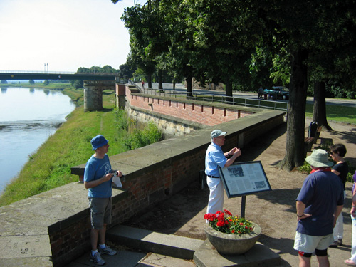 The point where Russion and American soldiers met during WWII