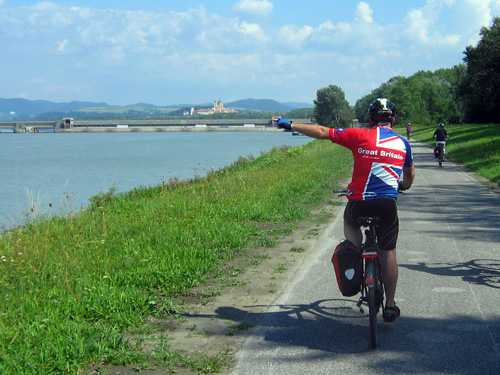 Cycling by the Danube