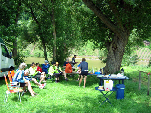 A picnic on a Mercurio cycling holiday